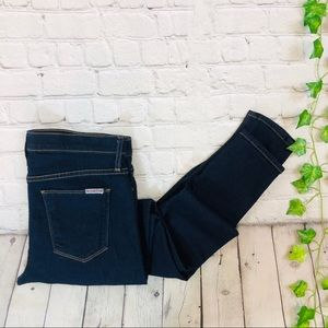 Hudson Nico Mid Rise Super Skinny Dark Wash Jeans
